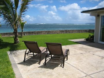 Mokuleia house rental - Great Backyard with unobstructed ocean views!