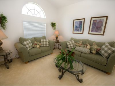 Orlando villa rental - This well presented room warmly greets you as you step through the front door
