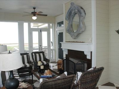 Screened Porch with Wood Burning Fireplace. Breezes from North and South