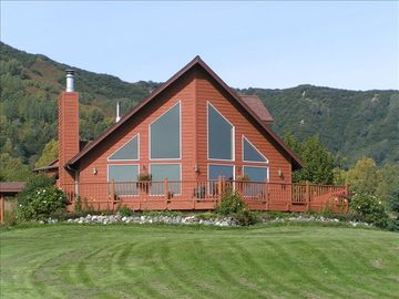 Homer house rental - Waterman Creek Guest House on a Sunny Day