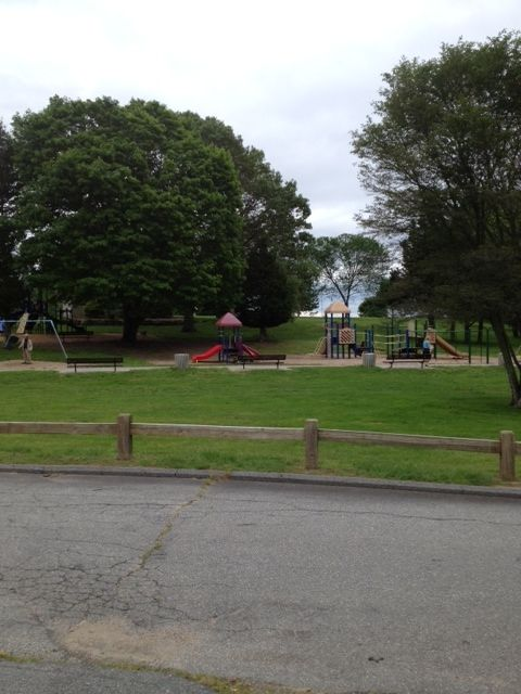 playground down the street with sea views