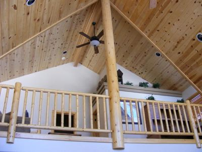 Brian Head cabin rental - Loft Level with office area