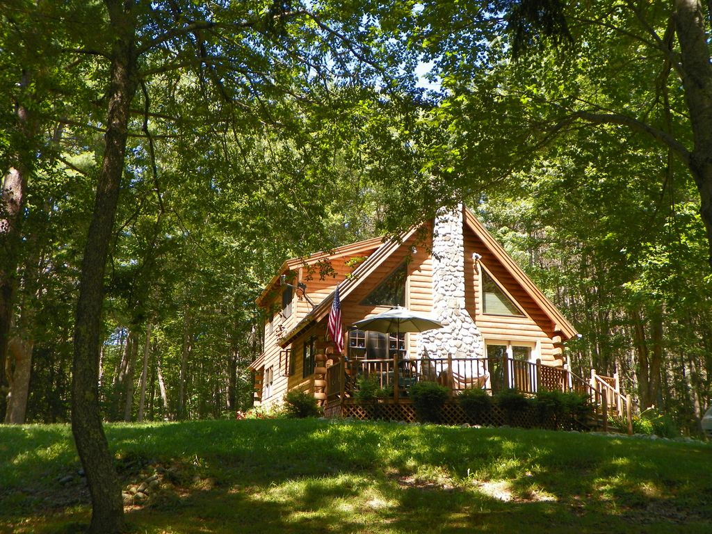 Lovely Log Cabin On Maine Coast Homeaway Searsport