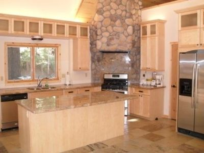 Large Kitchen with modern appliances.