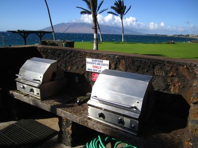 Professional grade BBQ's and oceanfront picnic tables to prepare delicious meals