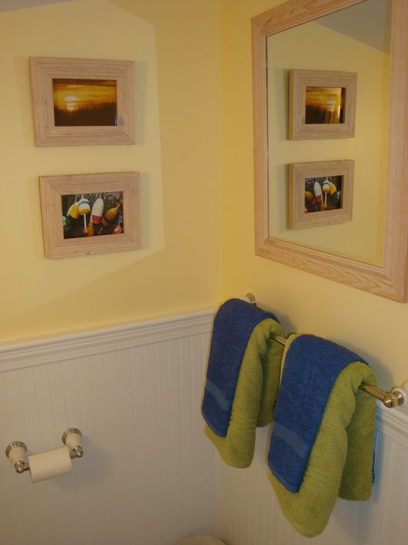 Bathroom towel wall area