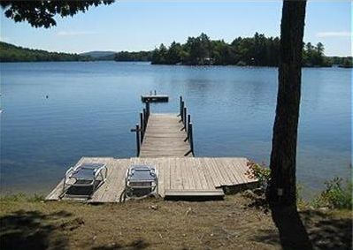 Boat dock, sunning area, swim raft.