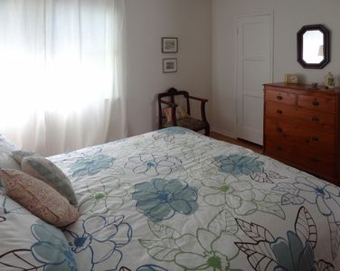 King-size bed and large closets