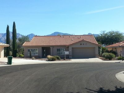 Home with great views of Santa Catalina Mountains from back of house and patio