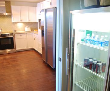 Extra wine cooler in laundry room