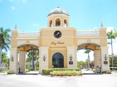 Guardhouse Entrance to Grand Venezia Call 204-785-1592 for your reservation.