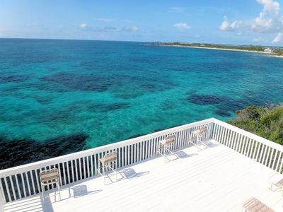 Cat Island house rental - Spectacular views from the deck of The Point House! A wonderful place to relax.