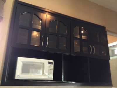Cabinet/wall unit in kitchen.