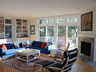 Wellfleet house photo - The living area is great for lounging and watching the tides and sunset.