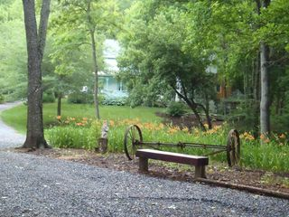 Wytheville farmhouse photo - One of the charming spots at The Glade