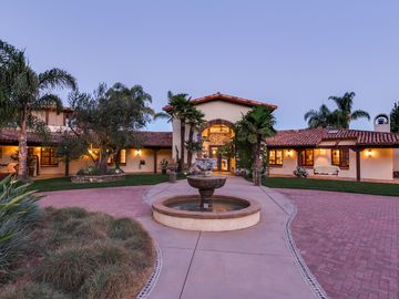 San Luis Obispo estate rental - Welcome to Casa Contenta. Main entrance off private circular driveway.