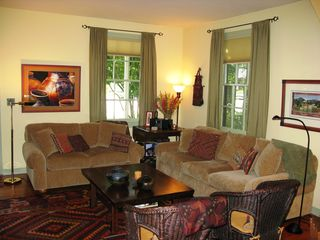 Healdsburg cottage photo - Living room has plenty of comfortable seating and beautiful art.