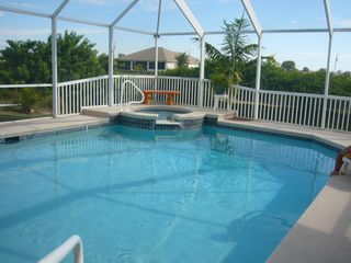 Cape Coral house photo - another view of heated pool and spa
