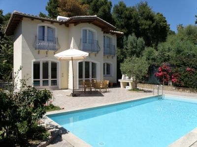 Detached villas with own pool and garden 300 m away from sandy beach, free wi-fi