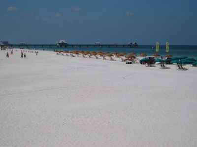 On north Clearwater Beach, rent a cabana or walk our famous white sands