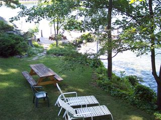Gilford house photo - relax or enjoy dinner Lakeside