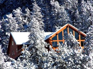 Estes Park house photo - Winter Scene of our Mountain Home