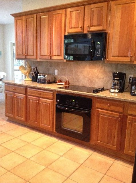 Kitchen with New Appliances, Graite Countertops, & tile back splash, 1/2011.