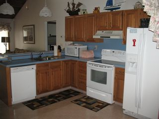 Cape May house photo - Large kitchen with breakfast bar