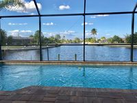 BEAUTIFUL WIDE INTERSECTING CANAL VIEW WITH SALT WATER POOL