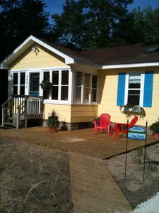 Muskegon cottage rental - Beach Cottage with view of Lake Michigan and just steps to the beach!