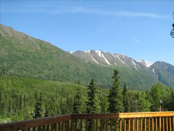 Cooper Landing house rental - spectacular view from deck