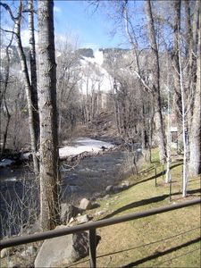 View of River and slopes from deck (Summer)