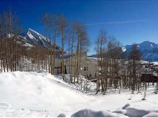 Crested Butte house photo - house in winter with view of mt cb