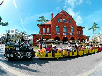 Ride the Conch Train to see and hear about the city's history and sites!