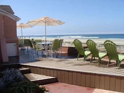 Oceanfront house 39 best patio 39 in mission vrbo for San diego county cabin rentals