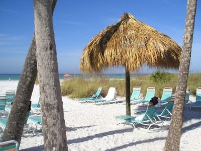 Click VIDEO above - Your own private secluded area on beach with shade!