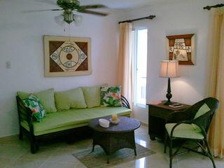 Sosua condo photo - Very Comfortable living room with pullout sofa!