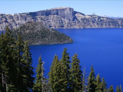 Crater Lake is within an hours drive from cabin.