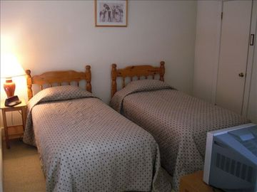 Loft with Two Twin Beds, Half Bath and Cable TV with DVD Player