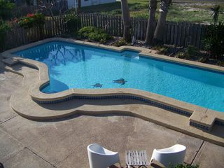 South Padre Island house photo - beautiful large private pool!