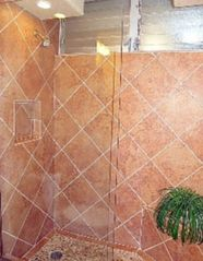 Kahana condo photo - Custom stone & travertine oversized walk-in shower.