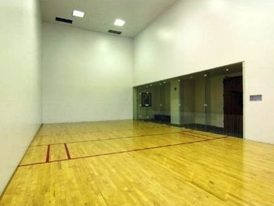 Raquet Ball Court in the building