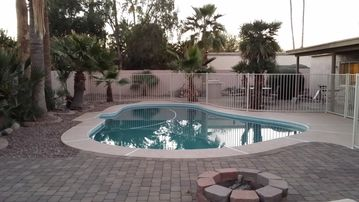 Scottsdale North house rental - Pool and Fire pit on the paver patio