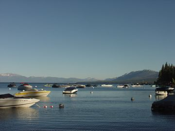 Tahoe City house rental - Views from the homeowners beach pier