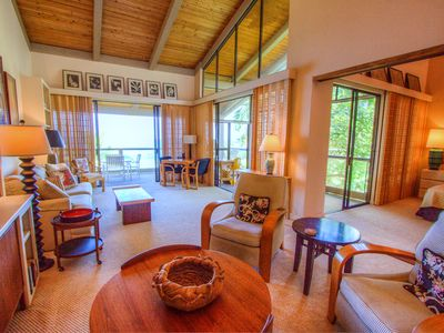 Keauhou condo rental - Living space