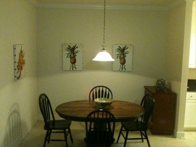 Foley condo rental - Spacious dining room with ceramic tiled floors