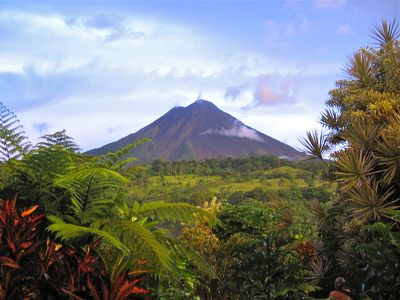 Arenal Volcano near La Fortuna rainforest about 4 hours form Flamingo area.