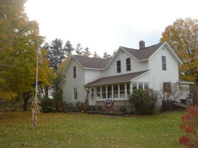 Lake Ann farmhouse rental - White Farms Northern Getaway Farm house in the fall
