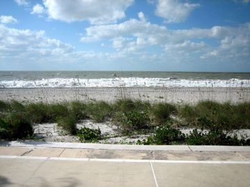 Belleair Beach condo rental - View of the beach from just outside the patio door.