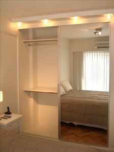 King bed and closet